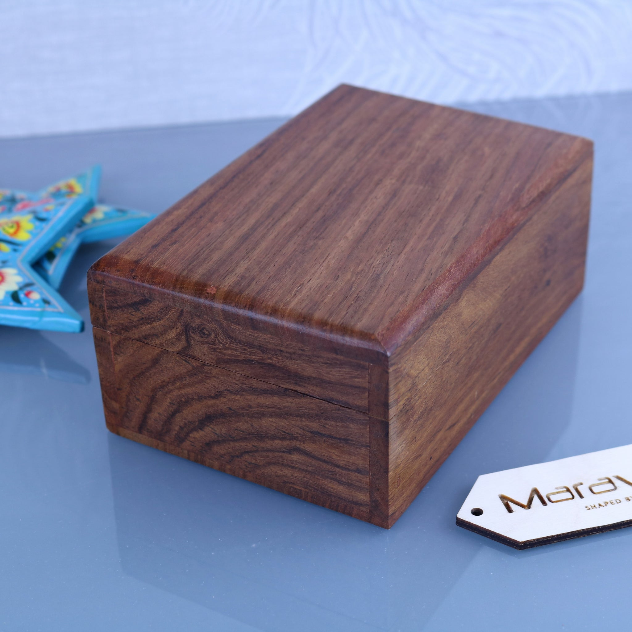 Khalka Wooden Plain Sheesham Wood Storage Boxes