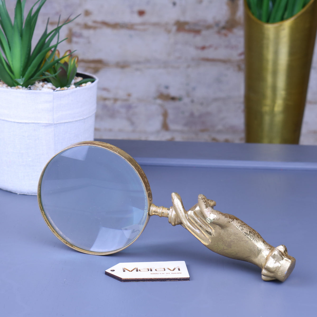 Rede Gold Hand Magnifying Glass