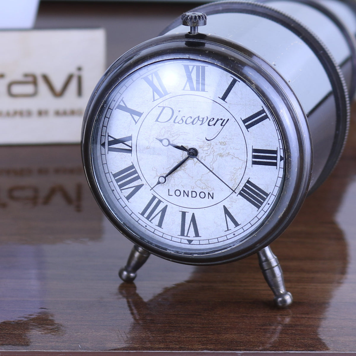 Discovery Telescope Shape Desk Clock