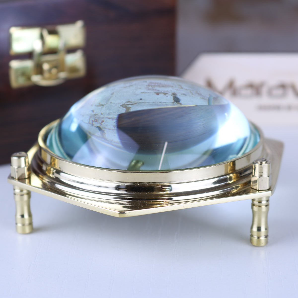 Goli Domed Magnifier in Wooden Box