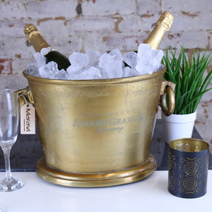 Alfred Gratien Oval Gold Vintage Champagne Ice Bucket