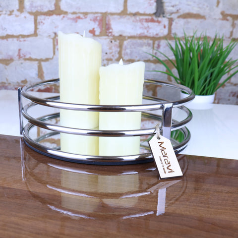 Malli 30cm Mirror Candle Tray