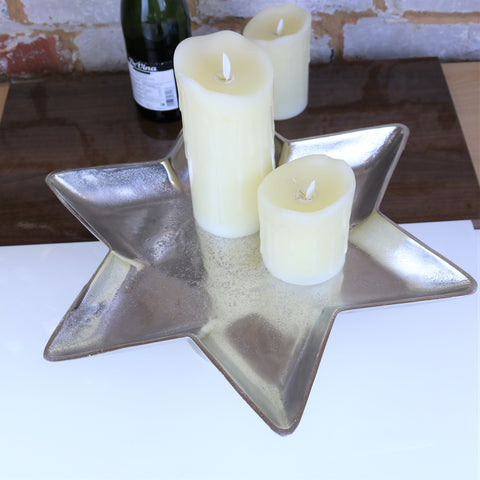 Tara Star Shape Decorative Candle Plate 40cm
