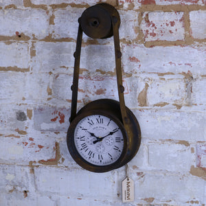 Sirtaul Pulley Style Industrial Wall Clock