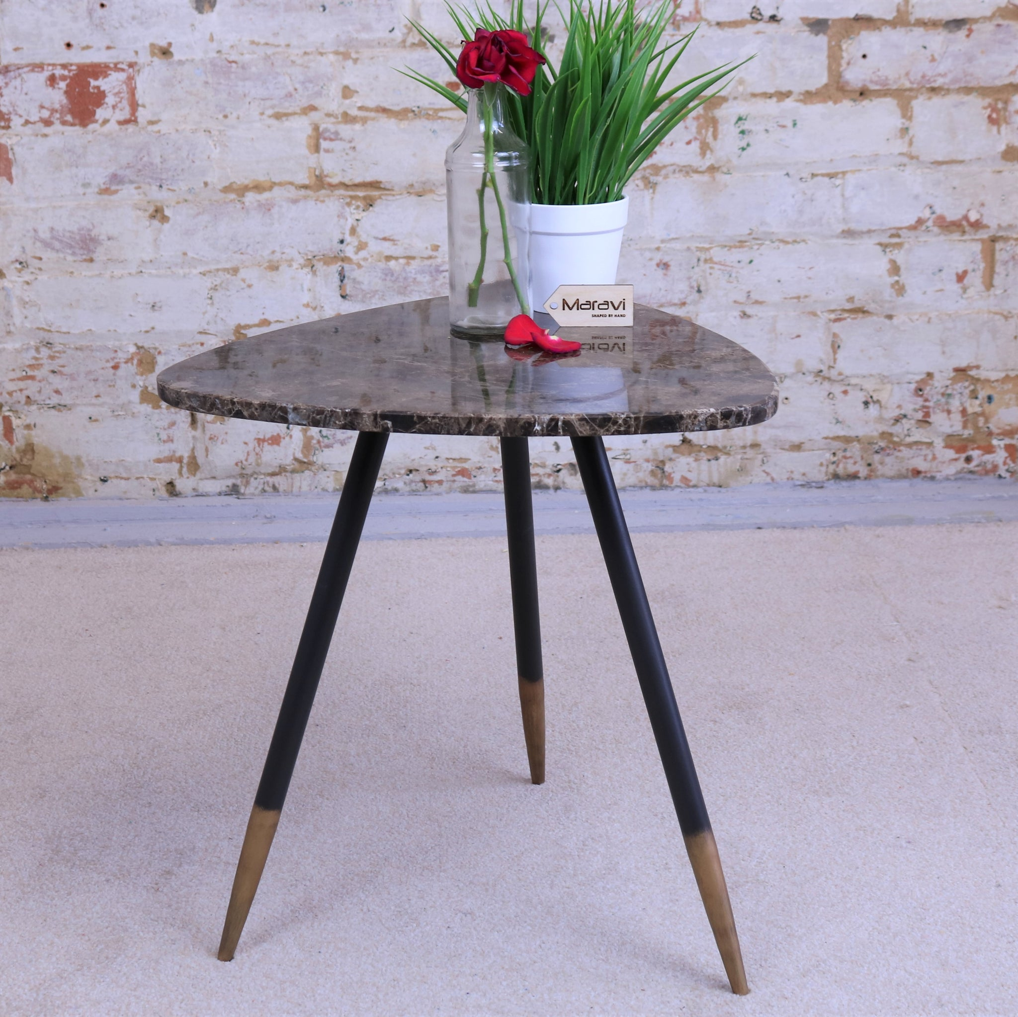 Molual Tripod Marble Side Table