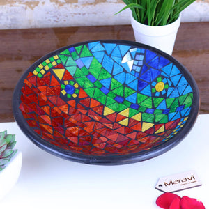Rania Mosaic Bowl 30cm Rainbow Multicolour