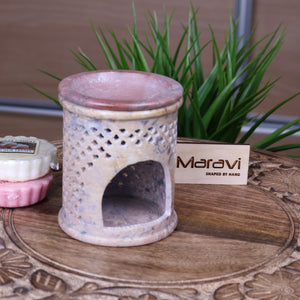 Sidi Moroccan Carved Soapstone Oil Burner