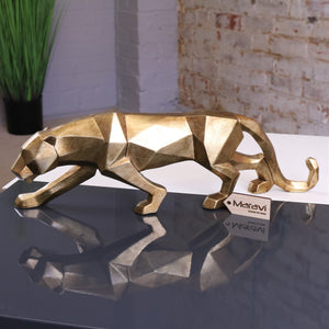 Lirbal Gold Geometric Leopard Ornament 46cm