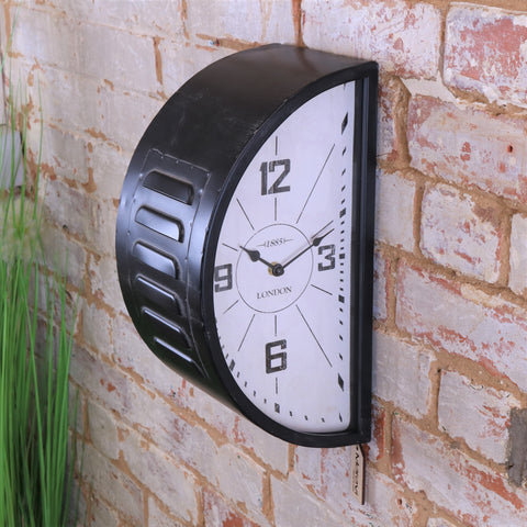 Industrial Railway Style Double Sided Clock