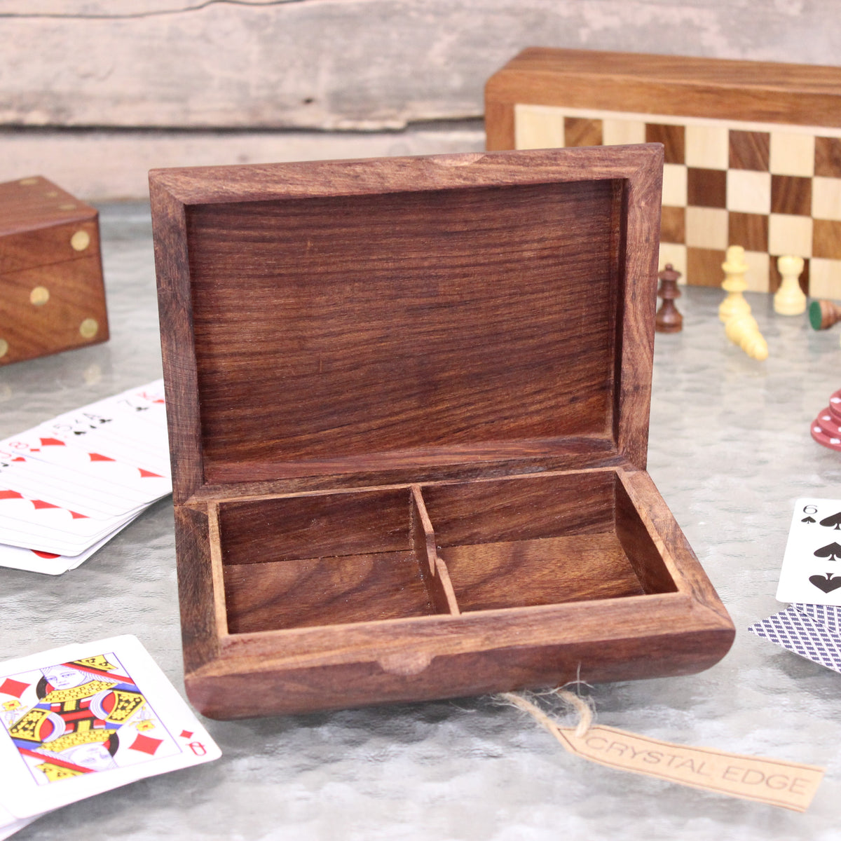 Nadu Twin Wooden Playing Card Box