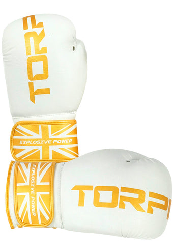 White / Gold Boxing Gloves