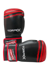 Load image into Gallery viewer, TXB Black/Red Boxing Gloves