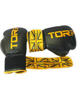 Load image into Gallery viewer, Black / Gold Boxing Gloves