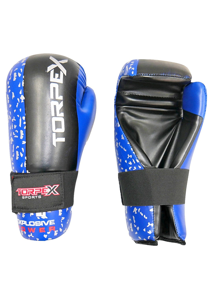 Blue Semi-Contact Gloves