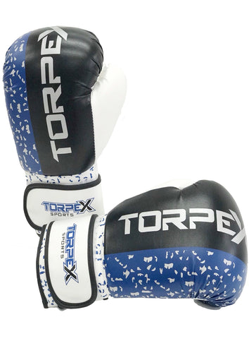 Blue Distressed Boxing Gloves