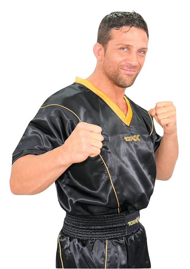 Black/Gold Kickboxing Uniform