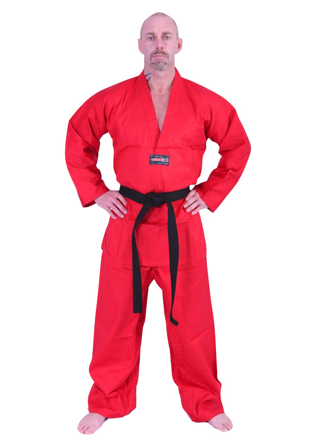 Red V-Neck Uniform 6oz