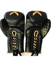 Laced Black/Gold Boxing Gloves