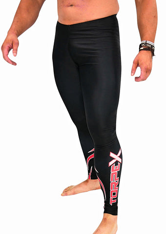 Black/Red Compression Bottoms