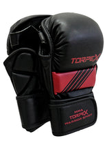 Load image into Gallery viewer, Torpex Black/Maroon MMA Gloves
