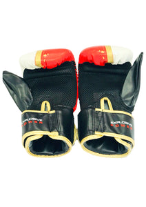 Red, White & Gold Bag Gloves