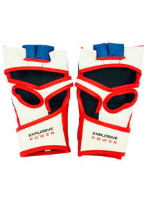 Blue, White & Red MMA Gloves