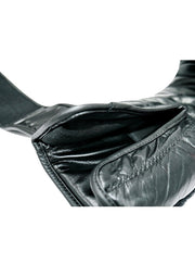 TXLR-14 Black & White Cowhide Leather Gloves