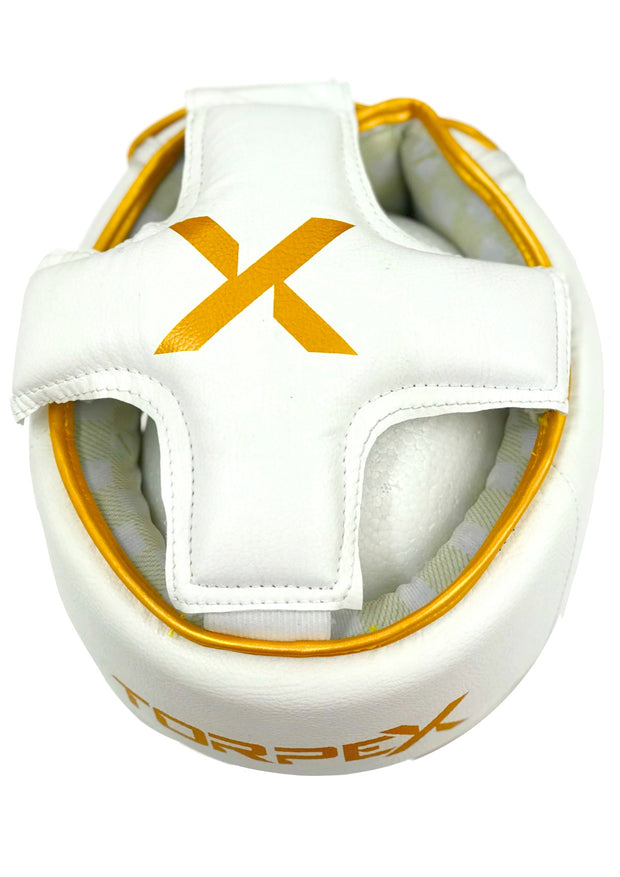 White / Gold Headguard