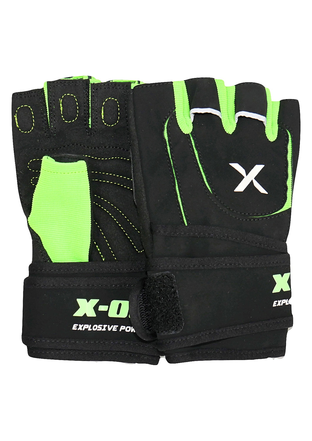 Green Weight Lifting Gloves