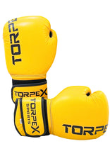 Load image into Gallery viewer, Yellow Pure Cowhide Leather Boxing Gloves