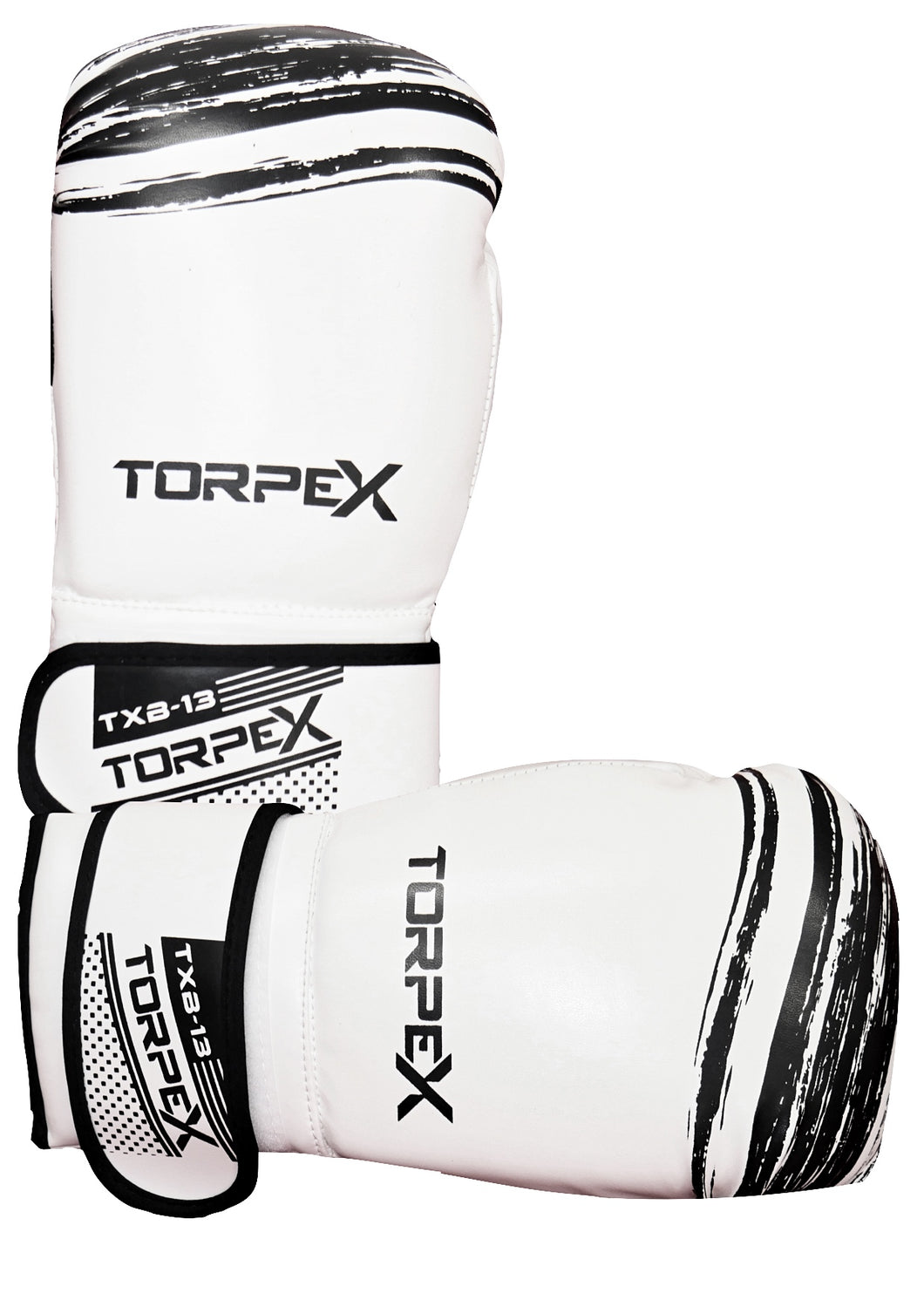 TXB White/Black Boxing Gloves