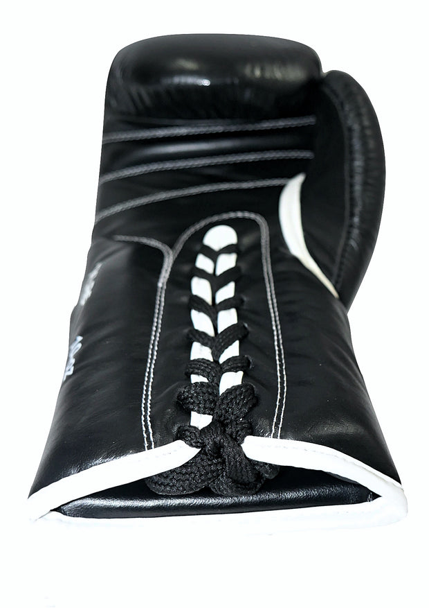 TXLR-14 Laced Black & White Cowhide Leather Gloves