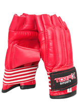 Load image into Gallery viewer, Red Cowhide Leather Bag Gloves