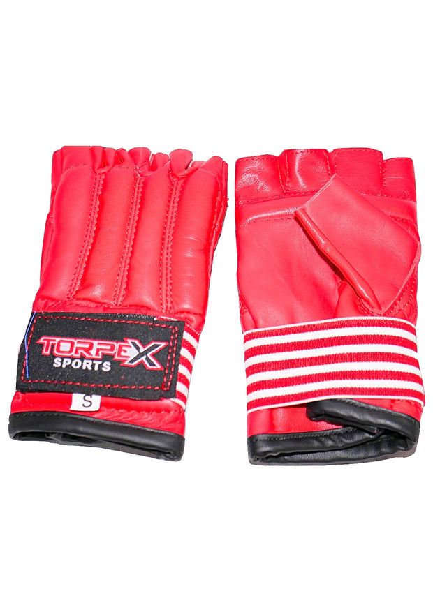 Red Cowhide Leather Bag Gloves