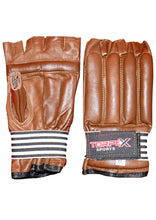 Load image into Gallery viewer, Brown Cowhide Leather Bag Gloves