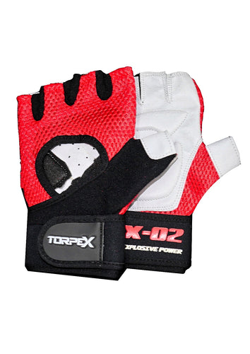 Red Weight Lifting Gloves
