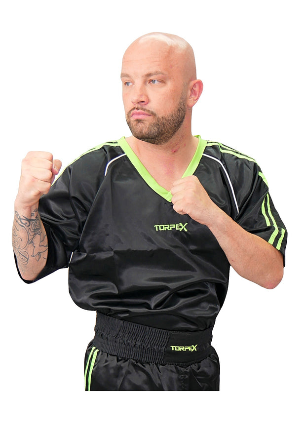 Black/Green Kickboxing Uniform