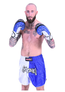 Muay Thai Blue/White Shorts
