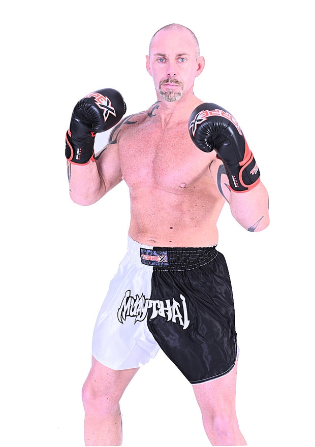 Muay Thai Black/White Shorts