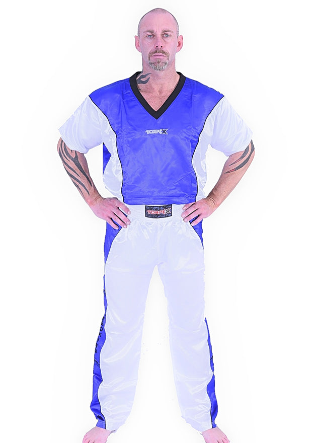 Blue/White Kickboxing Uniform