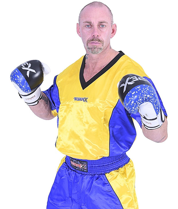 Blue/Yellow Kickboxing Uniform