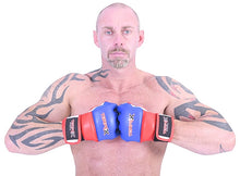 Load image into Gallery viewer, Blue, White & Red MMA Gloves