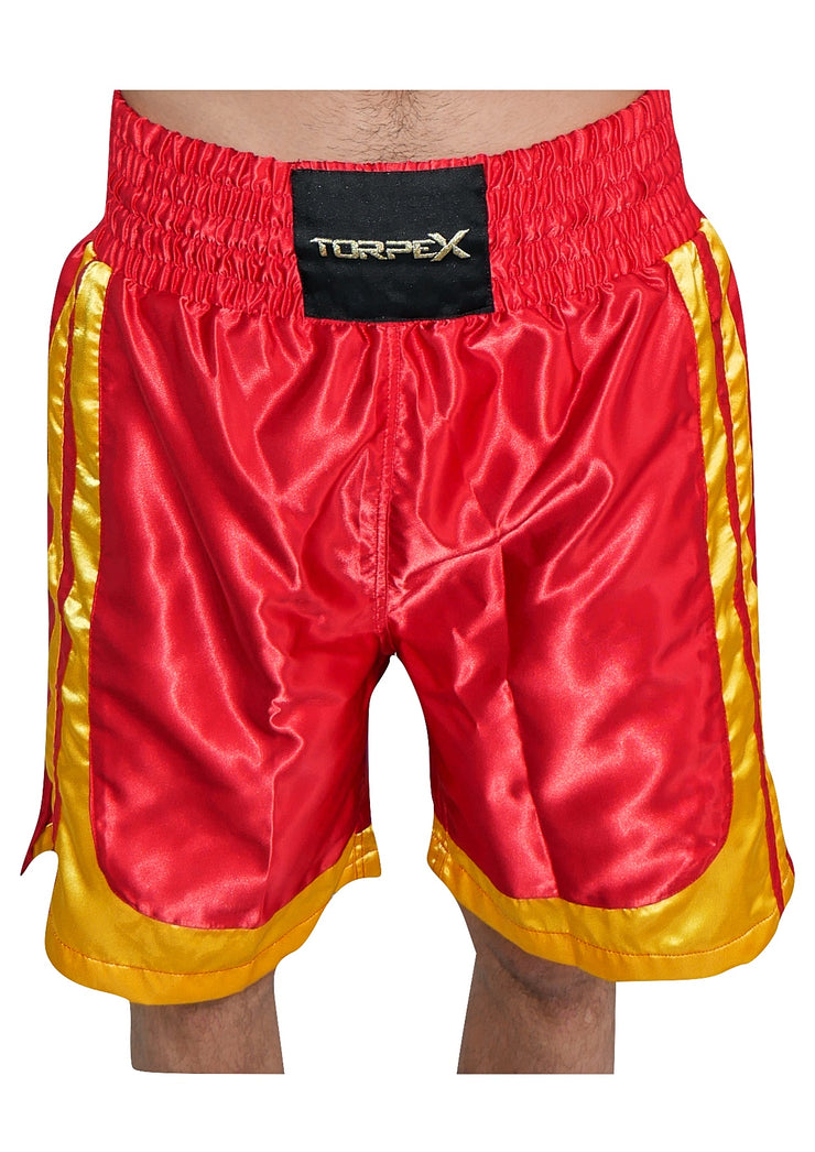 Red & Yellow Stripped Boxing Shorts