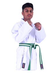 White Karate Uniforms 6oz (Big&Large)