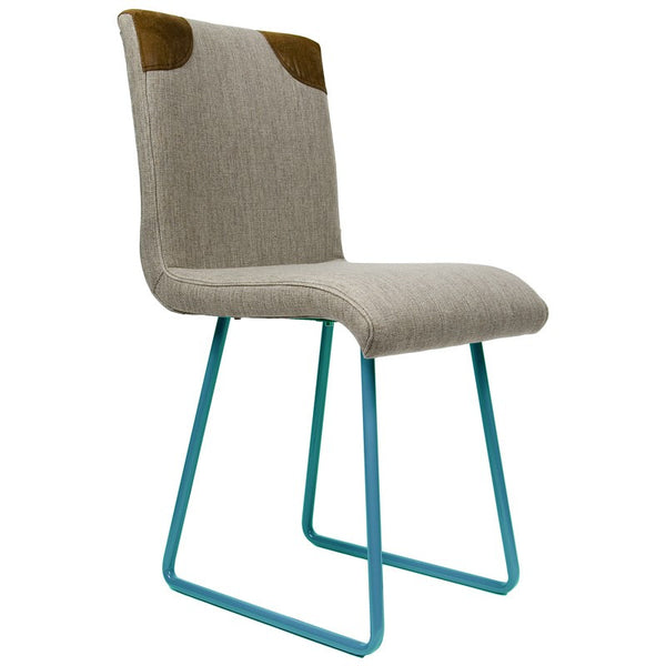 Chair With Turquoise Skids