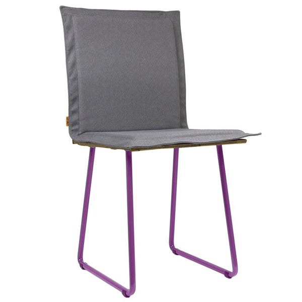 Shingle Chair With Violet Skids