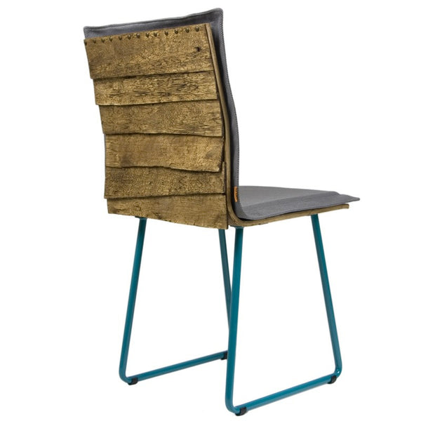 Shingle Chair With Turquoise Skids