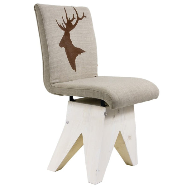 Deer Chair On Wood Base