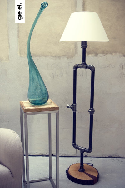 Steel Pipe Floor Lamp
