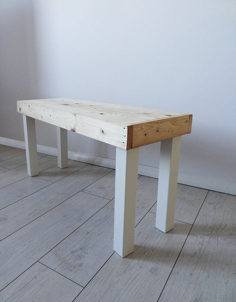 Wooden bench/sit with shelf